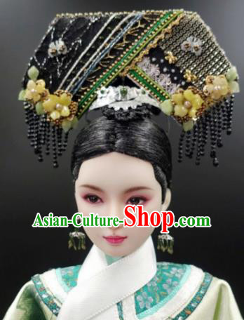 Chinese Ancient Qing Dynasty Imperial Consort Headwear Traditional Palace Hair Accessories for Women