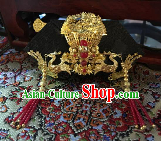 Chinese Ancient Manchu Headwear Traditional Qing Dynasty Palace Queen Hair Accessories for Women