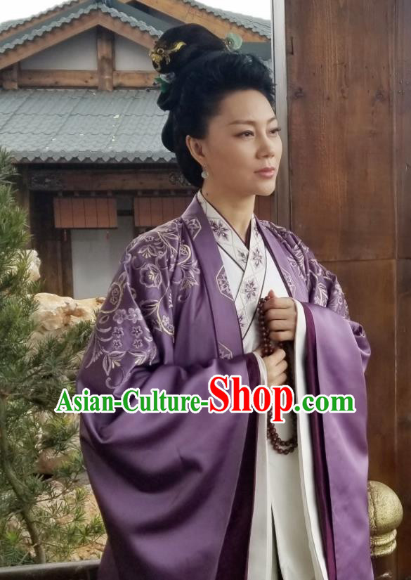 Traditional Chinese Ancient Dowager Hanfu Dress Northern and Southern Dynasties Embroidered Historical Costume for Women