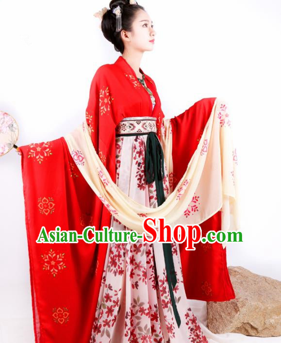Traditional Chinese Ancient Palace Lady Hanfu Dress Tang Dynasty Imperial Consort Historical Costume for Women