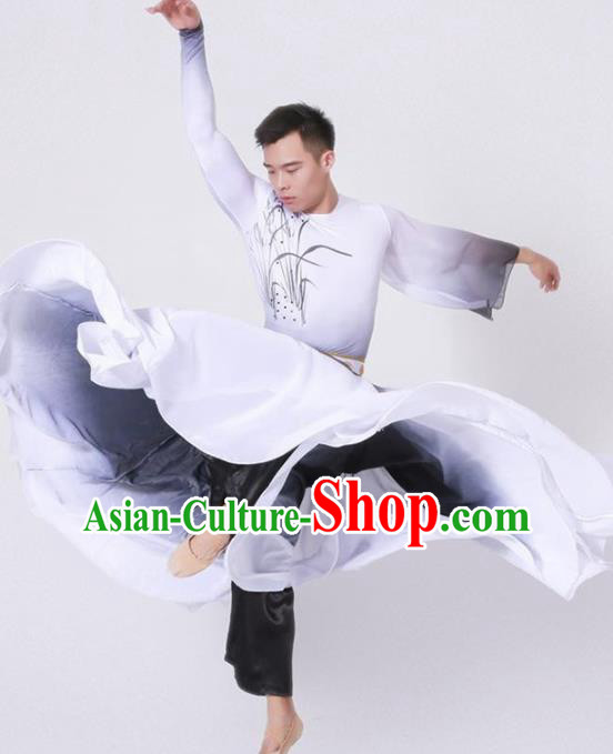 Chinese Classical Dance Stage Performance Costume Traditional Group Dance Clothing for Men