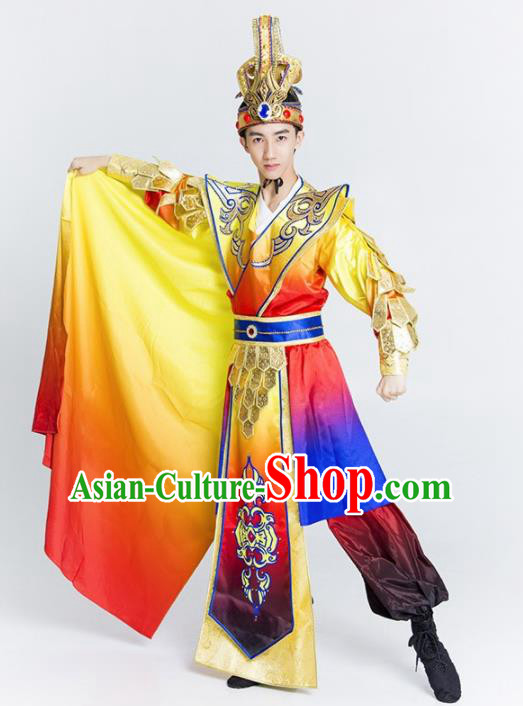 Chinese Classical Dance Costume Traditional Beijing Opera Stage Performance Clothing for Men
