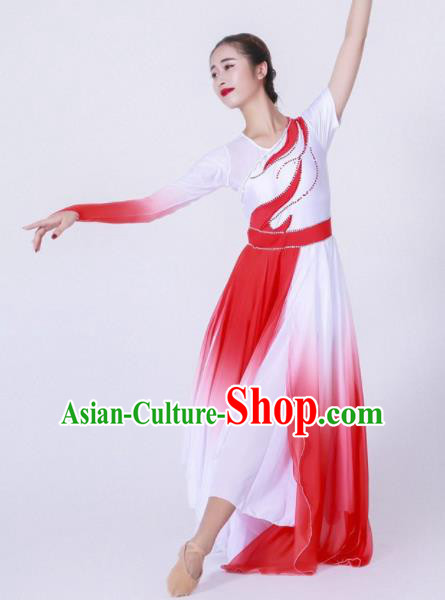 Chinese Modern Dance Stage Costume Traditional Spring Festival Gala Opening Dance Dress for Women