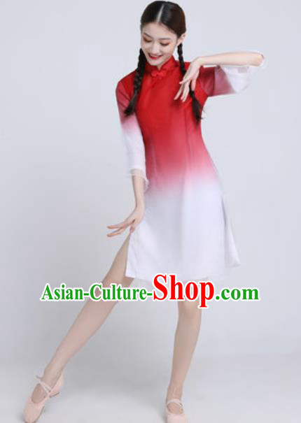 Chinese Classical Dance Chorus Dress Traditional Umbrella Dance Lotus Dance Stage Performance Costume for Women