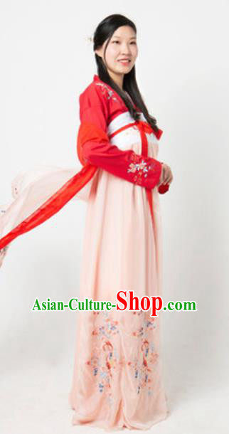 Chinese Traditional Classical Dance Hanfu Dress Umbrella Dance Lotus Dance Stage Performance Costume for Women