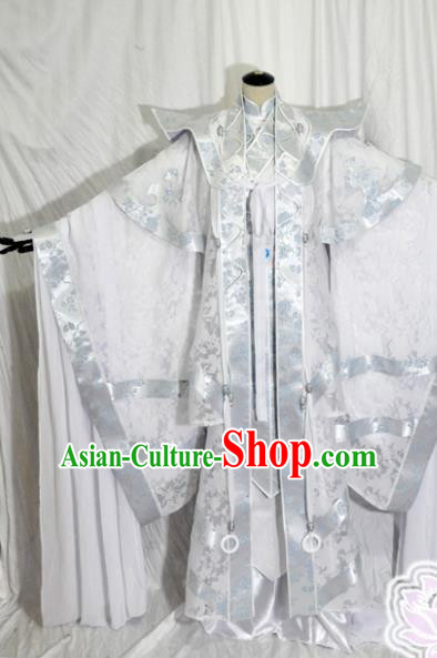 Traditional Chinese Swordsman Hanfu Clothing Ancient Royal Highness Embroidered Costume for Men