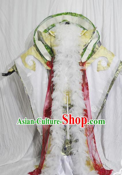 Traditional Chinese Cosplay Swordsman Hanfu Clothing Ancient Royal King Embroidered Costume for Men