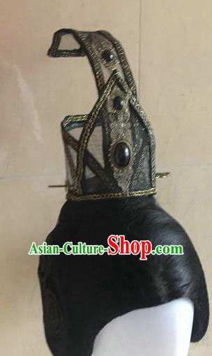 Traditional Chinese Han Dynasty Swordsman Hairdo Crown Hair Accessories Ancient Nobility Childe Hat for Men