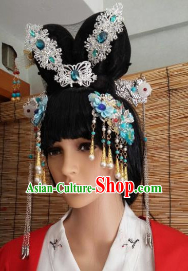 Traditional Chinese Handmade Ancient Tang Dynasty Imperial Consort Tassel Hairpins Hair Clips Headwear Hair Accessories for Women