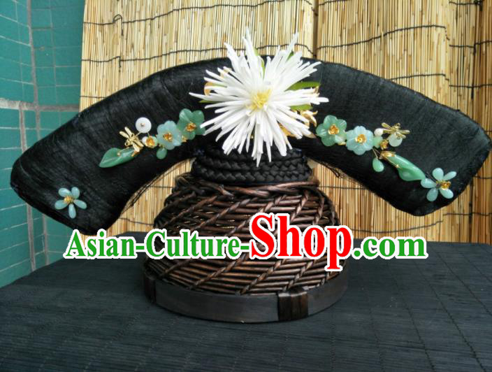 Traditional Chinese Handmade Qing Dynasty Manchu Princess Headwear Hairpins Ancient Queen Hair Accessories for Women