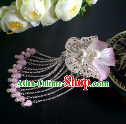 Chinese Handmade Hanfu Palace Hairpins Tassel Hair Claw Traditional Ancient Princess Hair Accessories for Women