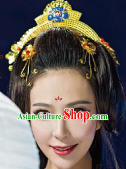 Chinese Handmade Hanfu Palace Blueing Phoenix Coronet Hairpins Traditional Ancient Princess Hair Accessories for Women