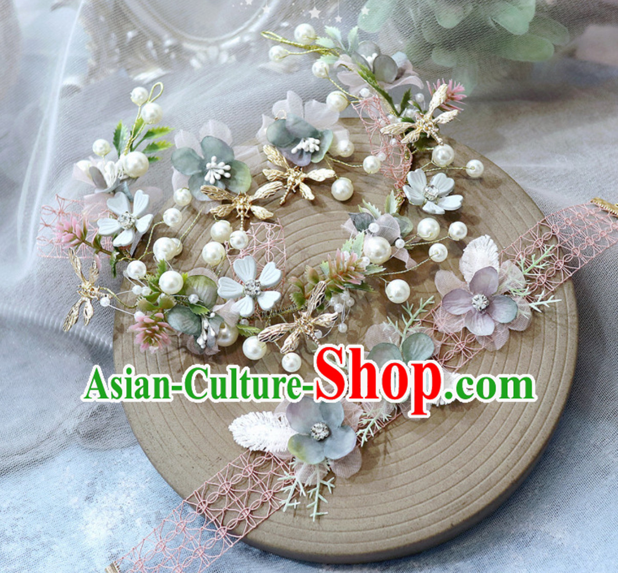 Romantic Handmade Garland Hair Decoration and Earring Set for Girls