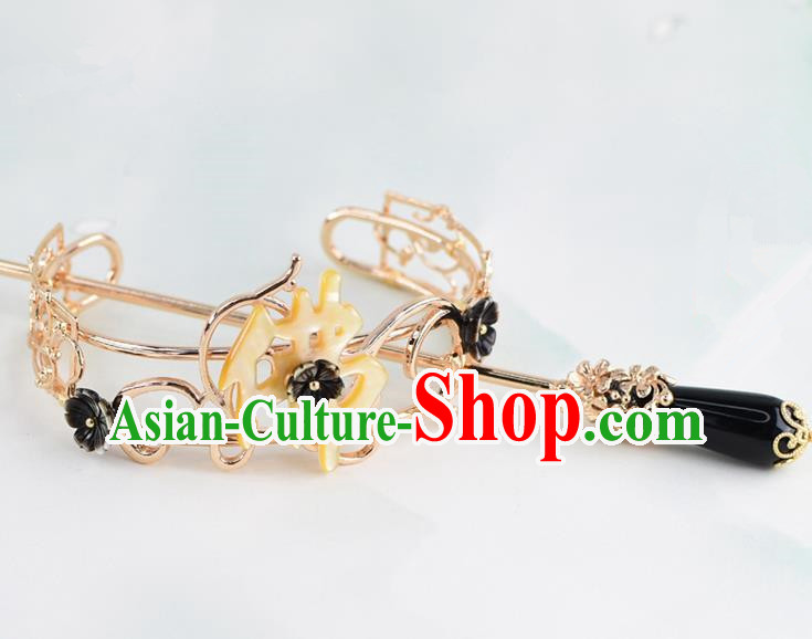 Chinese Traditional Swordsman Hair Accessories Ancient Prince Buddhism Hairdo Crown for Men