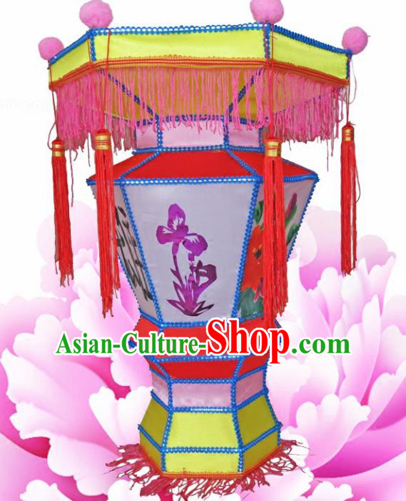 Handmade Chinese Painting Palace Lanterns Traditional Lantern Ancient Ceiling Lamp