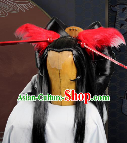 Chinese Traditional Cosplay Fox Peri Wig Ancient Princess Wig Sheath for Women