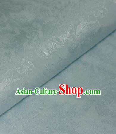 Chinese Traditional Cheongsam Fabric Blue Brocade Material Hanfu Classical Satin Silk Fabric
