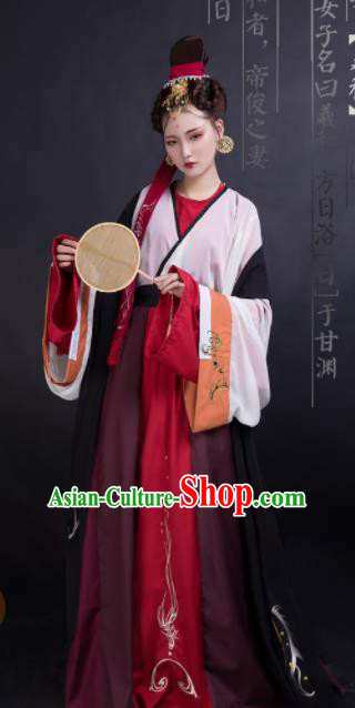 Chinese Jin Dynasty Swordswoman Dress Traditional Ancient Palace Princess Hanfu Historical Costume for Women