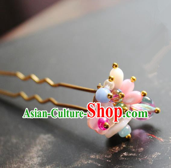 Chinese Ancient Hanfu Hair Clip Princess Hairpins Traditional Handmade Hair Accessories for Women