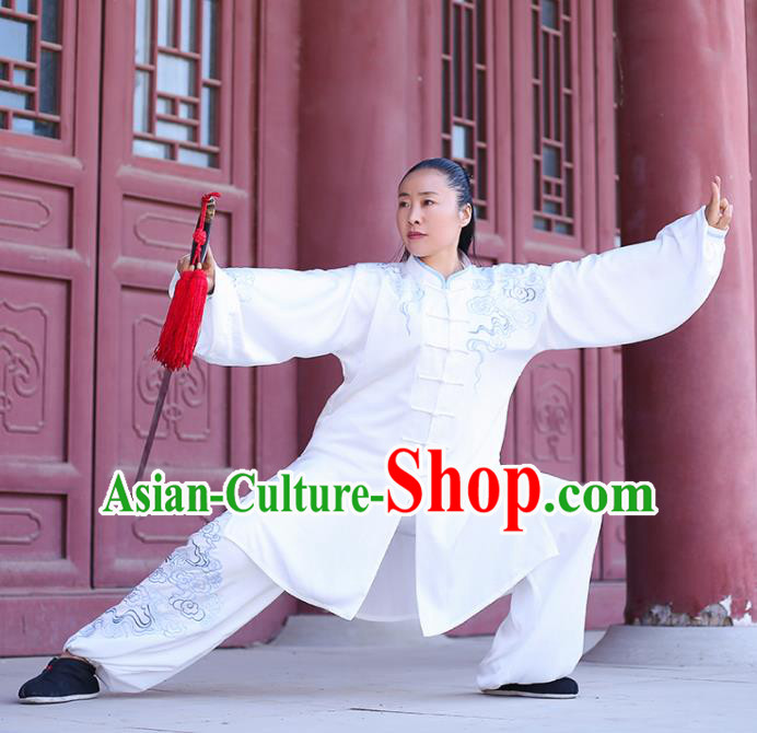 Traditional Chinese Martial Arts Costume Professional Tai Chi Competition Kung Fu Embroidered Uniform for Women