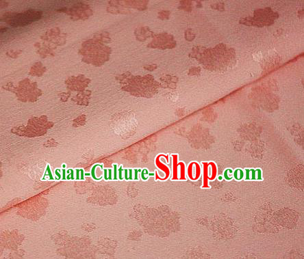 Asian Chinese Traditional Royal Flowers Pattern Pink Brocade Cheongsam Silk Fabric Chinese Satin Fabric Material