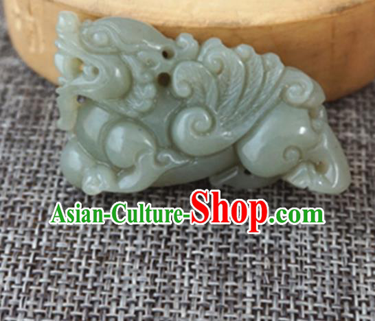 Chinese Handmade Jade Craft Carving Pi Xiu Jade Accessories Jade Jewelry Decoration