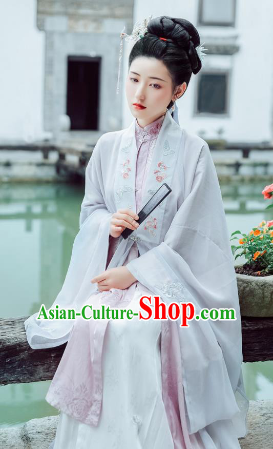 Chinese Ancient Drama Dream of the Red Chamber Hanfu Dress Traditional Ming Dynasty Dowager Li Wan Historical Costume for Women