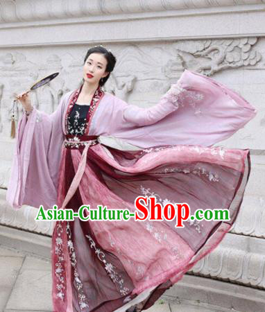 Traditional Chinese Tang Dynasty Imperial Consort Embroidered Hanfu Dress Ancient Drama Court Princess Historical Costume for Women