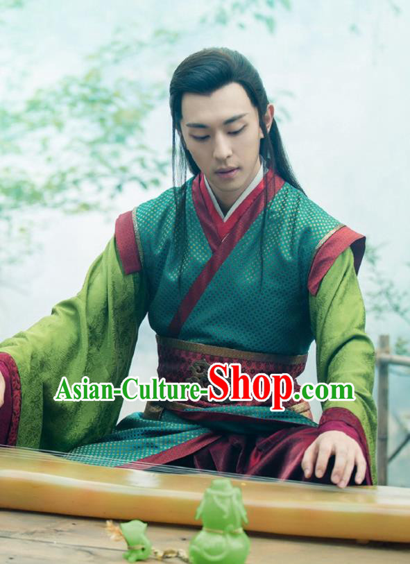 Chinese Ancient Legend Hoshin Engi Zhou Dynasty Swordsman Historical Costume for Men