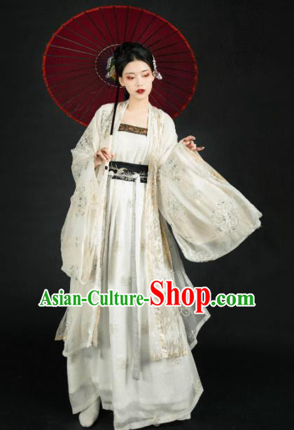 Asian Chinese Ming Dynasty Imperial Consort Historical Costume Ancient Court Lady Traditional Hanfu Dress for Women