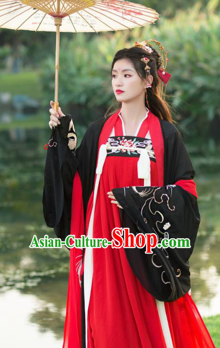 Chinese Traditional Tang Dynasty Aristocratic Lady Historical Costume Ancient Princess Hanfu Dress for Women