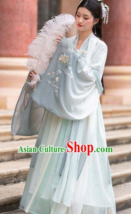 Chinese Traditional Tang Dynasty Princess Historical Costume Ancient Court Female Hanfu Dress for Women