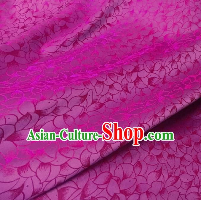 Asian Chinese Traditional Petal Pattern Design Rosy Brocade Fabric Silk Fabric Chinese Fabric Asian Material