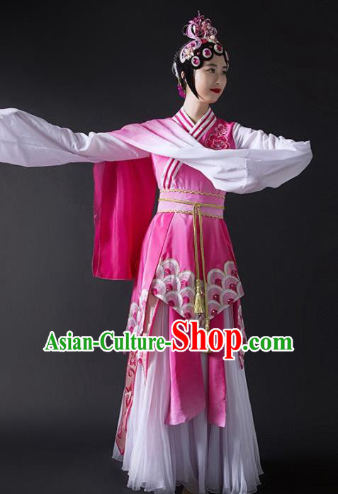 Chinese Traditional Dance Pink Dress Classical Dance Water Sleeve Beijing Opera Costume for Women