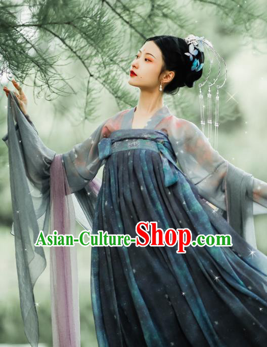 Asian Chinese Ancient Female Hanfu Dress Traditional Tang Dynasty Court Lady Historical Costume for Women