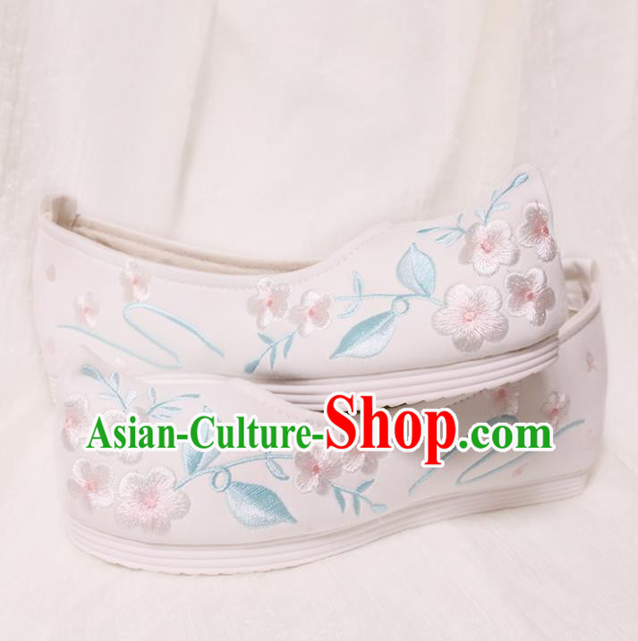 Chinese Shoes Wedding White Shoes Opera Shoes Hanfu Princess Shoes Embroidered Shoes for Women