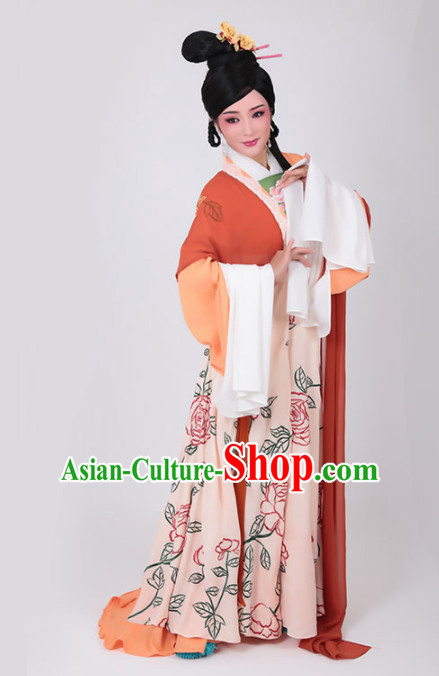 Chinese Traditional Peking Opera Actress Queen Dress Ancient Court Lady Embroidered Costume for Women