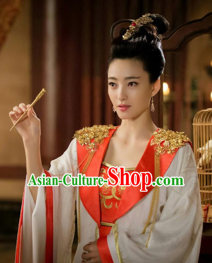 Chinese Ancient Shang Dynasty Imperial Consort Su Daji Dress Drama The Legend of Deification Costume for Women