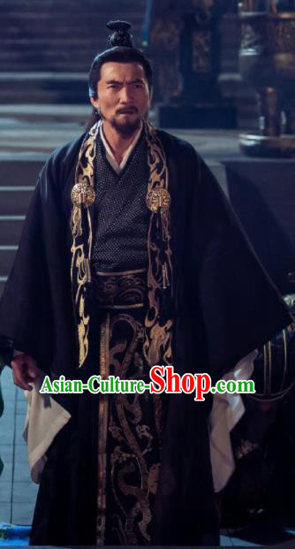 Chinese Ancient Shang Dynasty Drama The Legend of Deification Zhou King Costume for Men
