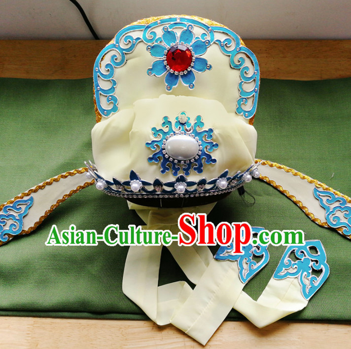 Chinese Ancient Number One Scholar Yellow Hat Traditional Beijing Opera Niche Hair Accessories for Adults