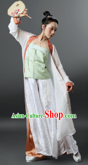 Chinese Ancient Song Dynasty Nobility Female Hanfu Dress Traditional Rich Dowager Replica Costume for Women