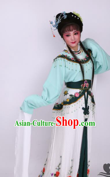 Chinese Traditional Opera Peri Dress Ancient Beijing Opera Diva Embroidered Costume for Women