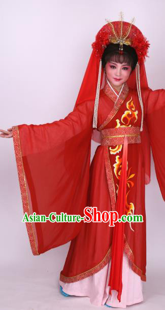 Chinese Traditional Opera Princess Wedding Red Dress Ancient Beijing Opera Diva Embroidered Costume for Women