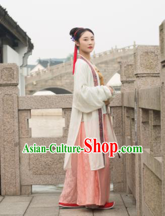 Chinese Ancient Song Dynasty Aristocratic Lady Replica Costume Traditional Court Hanfu Dress for Women