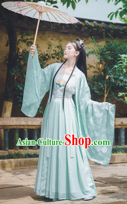 Asian Chinese Tang Dynasty Princess Replica Costume Traditional Ancient Palace Lady Dance Hanfu Dress for Women