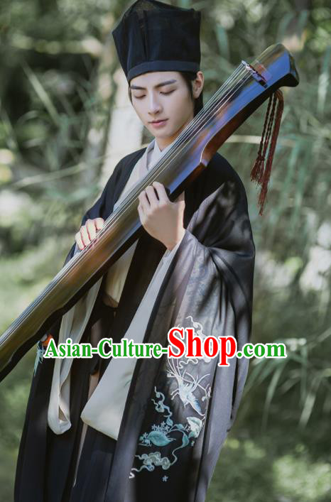 Chinese Ancient Nobility Childe Hanfu Clothing Traditional Jin Dynasty Scholar Replica Costume for Men