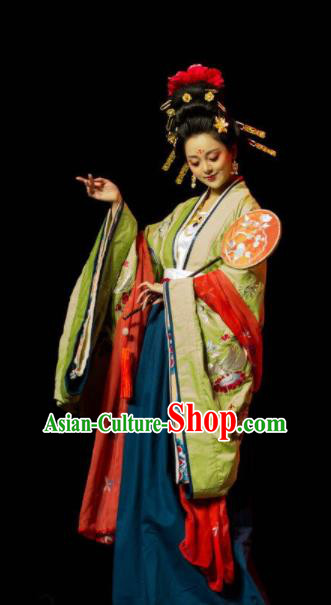 Chinese Traditional Tang Dynasty Empress Hanfu Dress Ancient Court Queen Replica Costume for Women