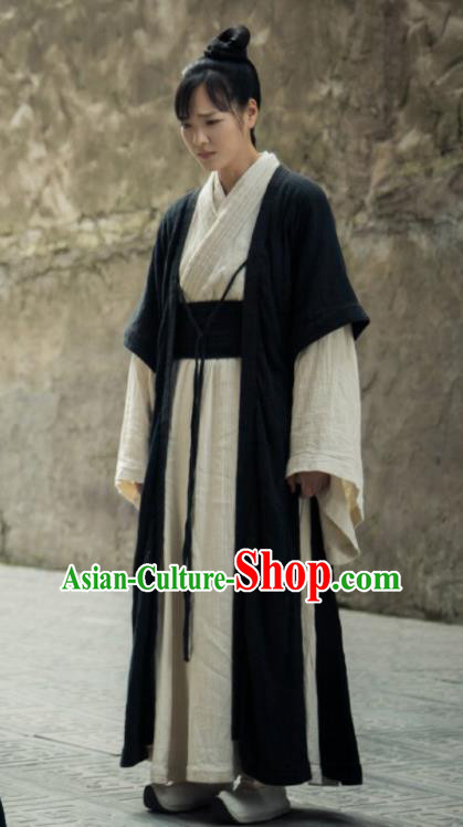 The Legend of Deification Chinese Ancient Shang Dynasty Swordswoman Historical Costume for Women