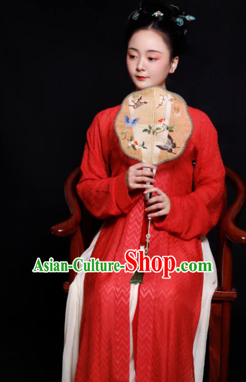 Chinese Traditional Song Dynasty Court Lady Hanfu Dress Ancient Young Mistress Replica Costumes for Women