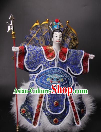 Traditional Chinese Handmade General Lv Bu Puppet Marionette Puppets String Puppet Wooden Image Arts Collectibles